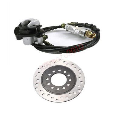 Rear Hydraulic Brake Master Cylinder Brake Pad + Rotor Disc Go Kart Cart Kit](Gokart Kits)
