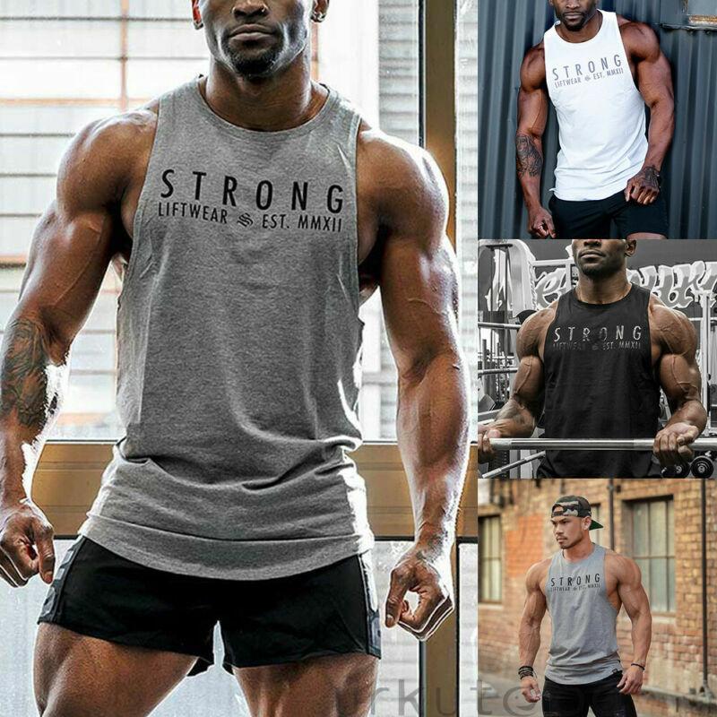 db1bedd989bf1e Herren Bodybuilding Tank Top Fitness Gym Tshirt Muskelshirt Sport Top  Sportshirt