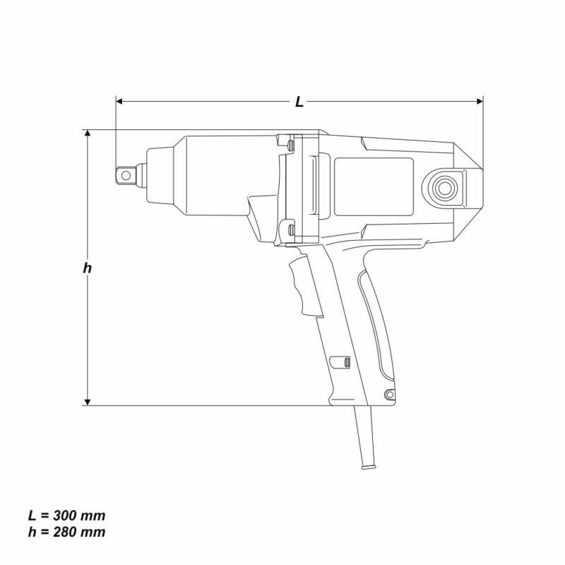 Schlagschrauber 900 Watt 325 Nm 1//2 Zoll Aufnahme Schraubendreher Reverse