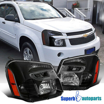- 2005-2009 Chevy Equinox Replacement Headlight Black Head Lights Lamps Left+Right