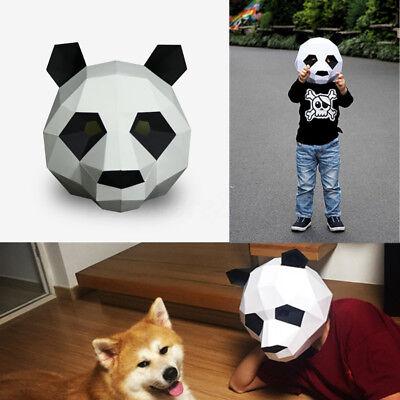 DIY Paperwork Animal Panda Head Halloween Party Costume Mask Cosplay Masquerade