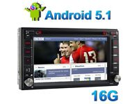 Android 5.1 6.2 Inch DAB+ GPS Navigation Bluetooth Full Eropean HD 2 DIN Car Stereo