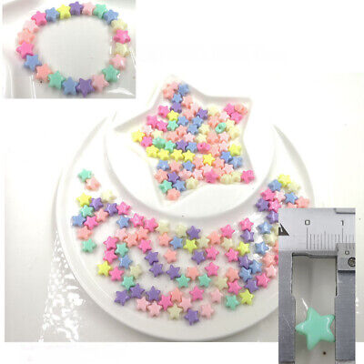 8 Color Pastel for Plastic 200 pcs Crafts mm Star shipping kids Free Diy Beads](Plastic Star Beads)