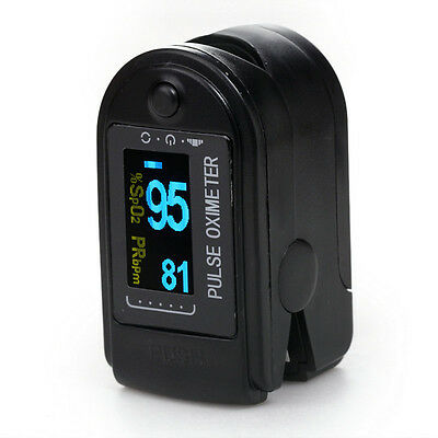 Usa Contec Fingertip Pulse Oximeterspo2 Monitor Oled Display With Black Cases