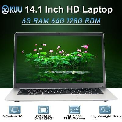 KUU-14.1 pulgadas de doble núcleo Intel Celeron N3350 HD 6G RAM Ultradelgada