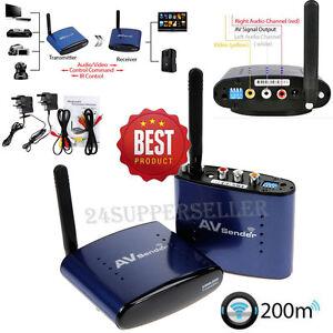 Wireless AV Sender STB TV Audio Video Transmitter Receiver 5.8GHz 200M PAT-630