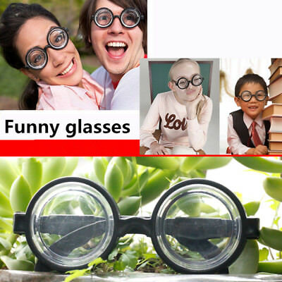 Party Accessories For Adults (Round False Myopia Glasses Party Accessories Funny Costumes for)