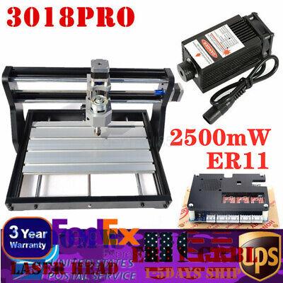 30x18cm 2500mw Cnc Laser Engraving Machine 3 Axis Dc24v Pro Diy Engraver Desktop