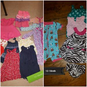 12-18mth girls summer clothes