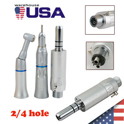 Dental Slow Low Speed Handpiece Straight Contra Angle Air Motor E-type 24-hole