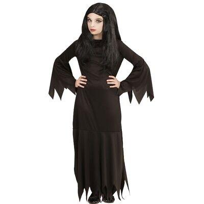 Mortisia Hexe Mädchen Kinder Kostüm Halloween von 5-16 J. Addams  Dark - Kostüm Von Halloween