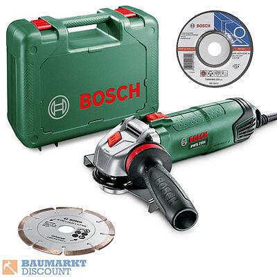 Bosch Winkelschleifer PWS 7500 + Schrupp.- und Diamantscheibe im Koffer