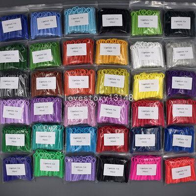 1040 Pcs Dental Orthodontic Elastic Braces Rubber Ligature Ties 37 Colors 1 Pack