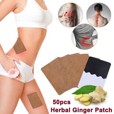 50pcs Premium Ginger Detox Foot Pads Patch Organic Herbal Cleansing Detox