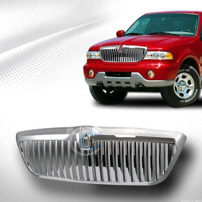 Fits 98-02 Lincoln Navigator/Blackwood Chrome Vertical Front Bumper Grill -