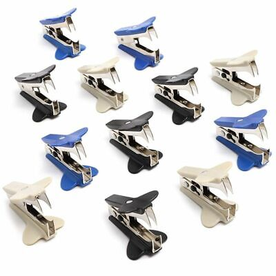 12x Mini Staple Removers Staple Pullers Tools For Office School Home 3 Colors