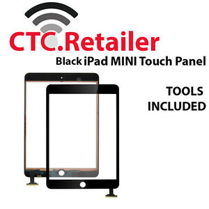 Apple ipad mini 1 2 3 black front glass screen touch panel digitizer
