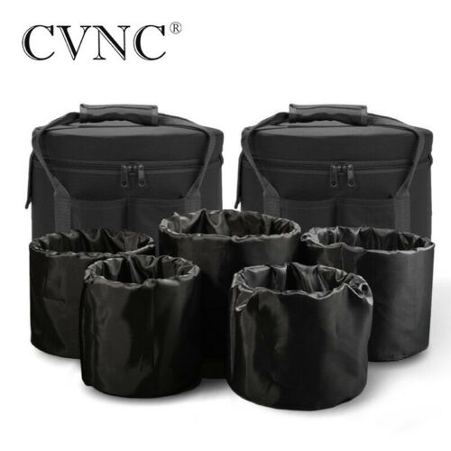 Two Carry Case Bag with 5 pcs Inserts Putting for 6-12 inch Crystal Singing Bowl