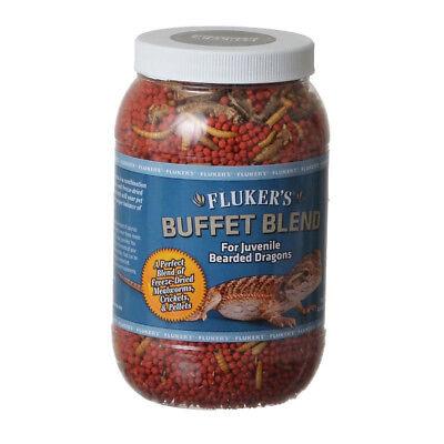 FLUKER'S BUFFET BLEND HEALTHY JUVENILE BEARDED DRAGON FOOD 4.4 OZ. FREE SHIP USA