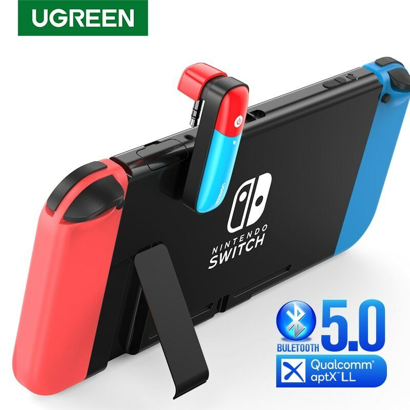 Ugreen Bluetooth V5.0 Transmitter For Nintendo Switch 3.5mm Audio Adapter Aptx