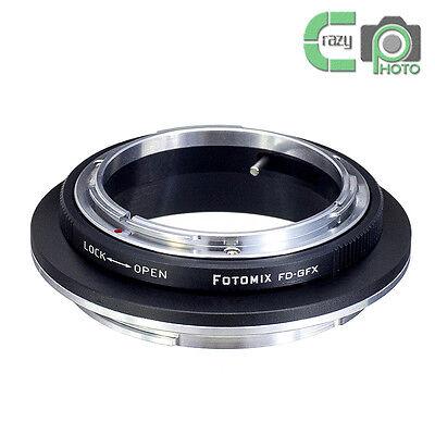 FOTOMIX FD-GFX Adapter Canon FD Mount Lens to Fujifilm GFX Medium Format Camera Canon Medium Format