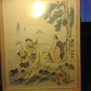 Antique Chinese Painting Signed YEN CHIN