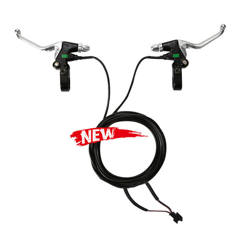 1 Pair Aluminum Electric Bike Scooter E-scooter Brake Lever /& Cut Off Switch Kit
