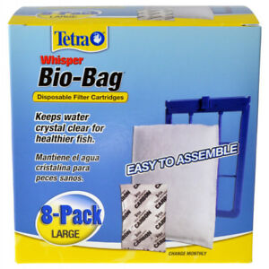 Tetra Whisper Bio-Bag Filter Cartridges (Large) - 8 Pack