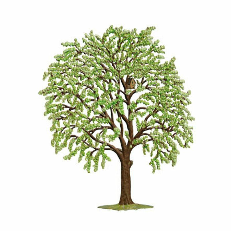 Tree green, made of pewter - Wilhelm Schweizer -