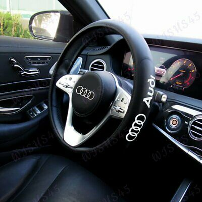 """Black New Faux Leather 15"""" Diameter Car Steering Wheel Cover For All AUDI Cars"""
