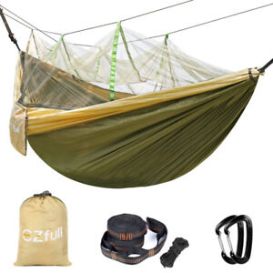 Brand New Double Camping Hammock with Mosquito Net EZfull