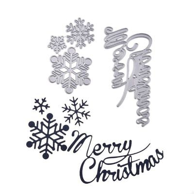 CUTTING DIES*words*MERRY CHRISTMAS*plus SNOWFLAKES*Christmas*Cards*Topper