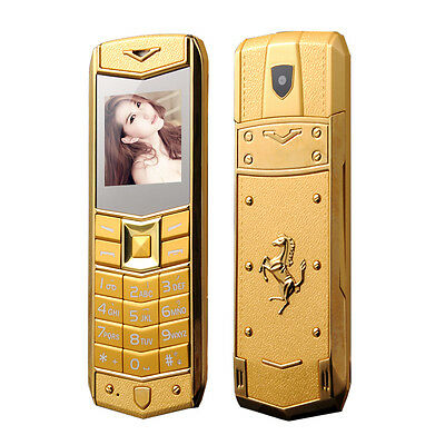Luxury A8 Mobile Phone Dual SIM 1.5 Inch Mini Metal Dody Phone Multi Language