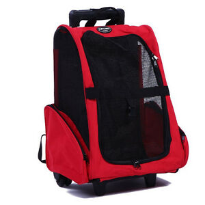 PET CARRIER - Rolling Travel Backpack for Dogs and Cats