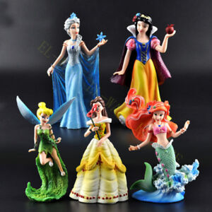 5 Pcs Disney Princess Tinkerbell/Bella/Cinderella/The Little Mermaid Figure Doll