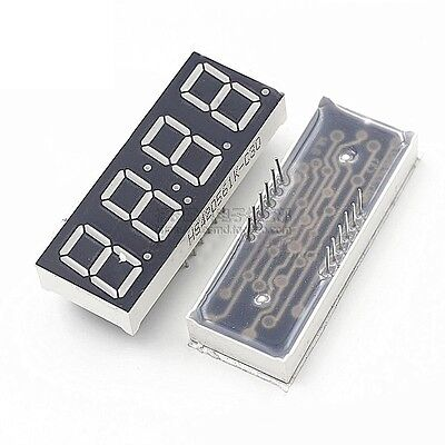 2pcs 0.56 4 Digit Super Red Led Display Common Anode With Time Display