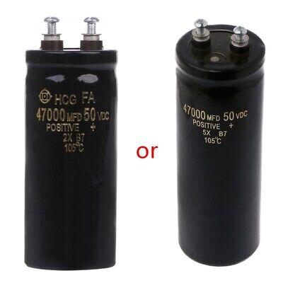 50v 47000ufmfd Aluminum Screw Filtering Electrolytic Capacitor 105