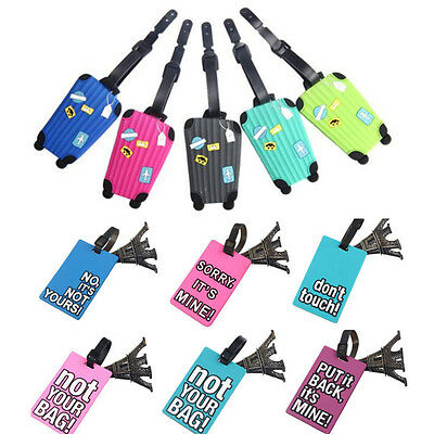 Design Luggage Tags (Design Suitcase Luggage Tags ID Address Holder Silicone Identifier Label Tag)