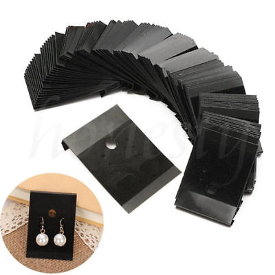 100pcs Jewelry Earring Ear Studs Hanging Display Holder Hang Cards Black 54.5cm
