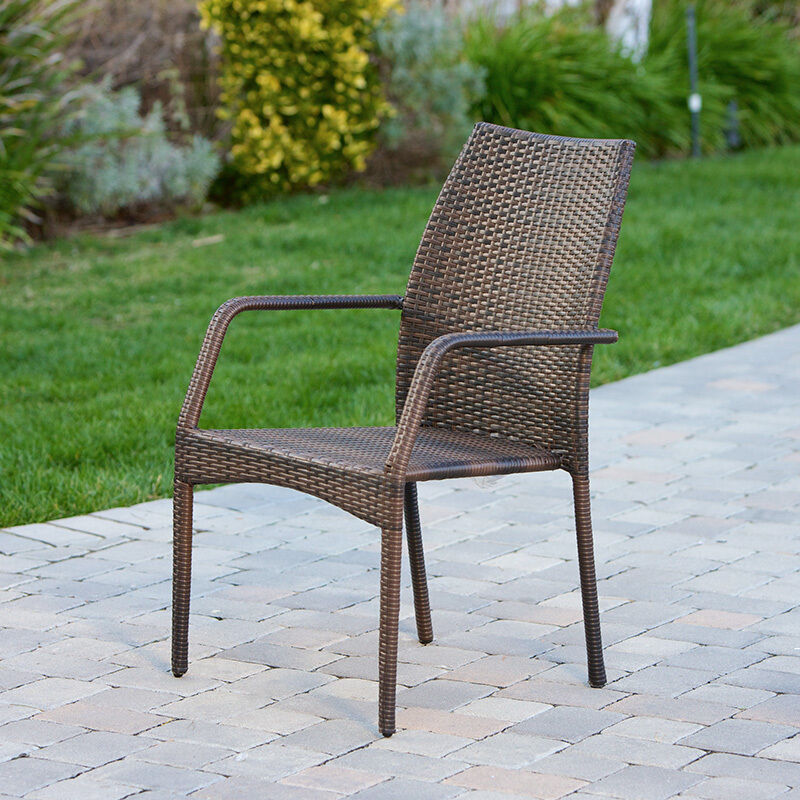 7 Piece Outdoor Patio Furniture Brown All Weather Wicker Dining Set Picclick