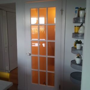 REAL WOODEN FRENCH DOOR