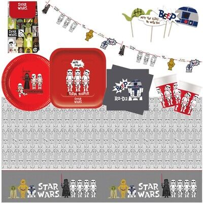 Star Wars Retro Party Supplies Tableware, Party Bags Balloons & Decorations