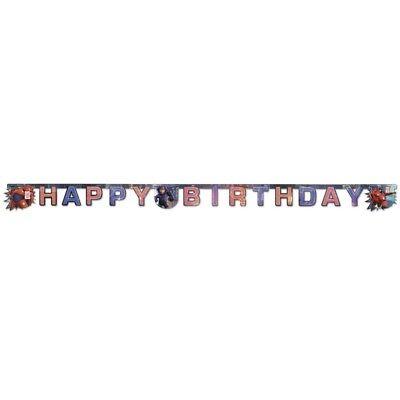 Big Hero 6 BAYMAX  Girlande Happy Birthday Kindergeburtstag Deko ()