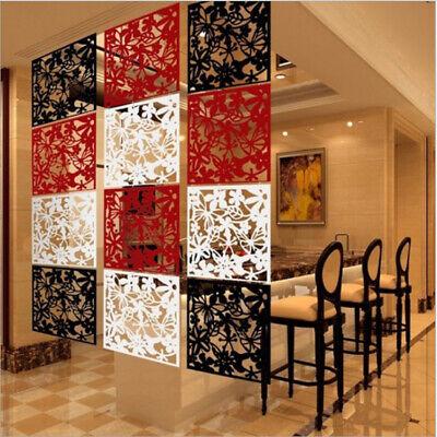 - 12pcs DIY Room Divider Hanging Wall Panels Decor Art Plastic Screen Partition
