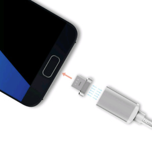 Magnetic 2in1 data cable charger for iphone and android