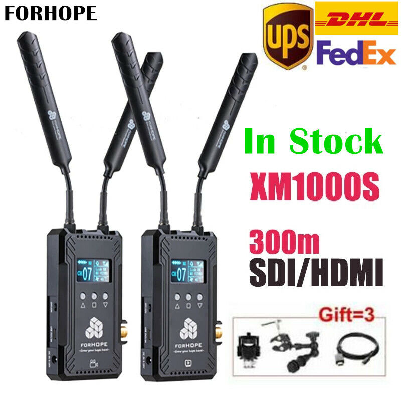 FORHOPE XM1000S Dual SDI HDMI Wireless Video Transmission System 1080P OLED 300m