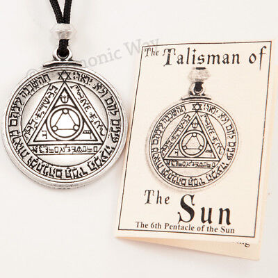 TALISMAN of SUN Magic Pentacle Solomon Seal HEALTH WEALTH Pendant Necklace