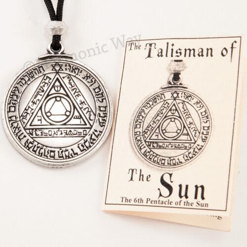 TALISMAN of SUN Magic Pentacle Solomon Seal HEALTH WEALTH Pendant Necklace