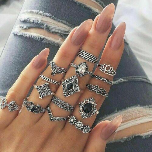 10 Pcsset Gold Midi Finger Ring Set Vintage Punk Boho Knuckle Rings Jewelry