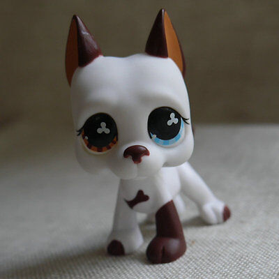 """LPS COLLECTION LITTLEST PET SHOP Cream white Great Dane dog RARE TOY 2"""""""